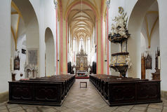 Interior of Church of Presentation of Virgin Mary Royalty Free Stock Images