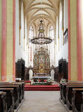 Interior of Church of Presentation of Virgin Mary Stock Photo