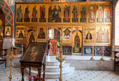 Interior Church of the Resurrection in the Holy Resurrection Monastery Stock Images