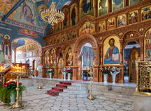 Interior Church of the Resurrection in the Holy Resurrection Monastery Stock Photography