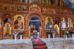 Interior Church of the Resurrection in the Holy Resurrection Monastery Royalty Free Stock Photos