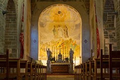 Interior of the Church of Rosazzo Abbey Royalty Free Stock Photo
