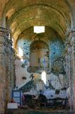 Interior of church in ruin. On the corsica island in france Royalty Free Stock Photos