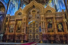 Interior of the Church of the Royalty Free Stock Photos