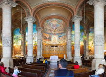 Interior of Church of the Sacred Heart Royalty Free Stock Photo