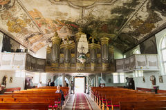 Interior of Church of the Sacred Heart of Jesus in Stegna, Poland. Stock Photos