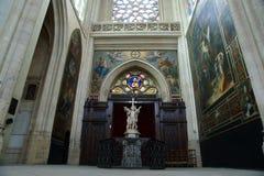 Interior Church of Saint-Germain-l'Auxerrois, Paris, France Stock Photos