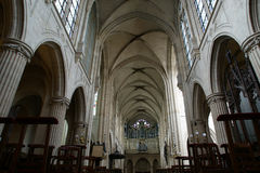 Interior Church of Saint-Germain-l'Auxerrois, Paris, France Royalty Free Stock Images