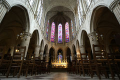 Interior Church of Saint-Germain-l'Auxerrois, Paris, France Royalty Free Stock Image