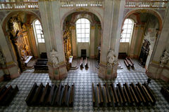 Interior of the church of Saint Nicholas in Prague, Czech Republic Royalty Free Stock Photos