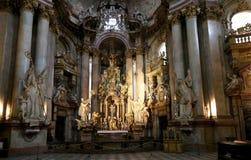 Interior of the church of Saint Nicholas in Prague, Czech Republic Royalty Free Stock Photography