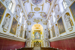 Interior of the Church of San Domenico in Palermo, Sicily, Italy. Stock Photography