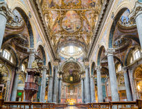 Interior of the Church of San Matteo in Palermo, Sicily, Italy. stock images