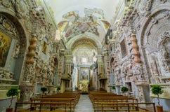 Interior of the Church of Santa Maria di Valverde in Palermo, Sicily, Italy stock photo