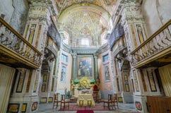 Interior of the Church of Santa Maria di Valverde in Palermo, Sicily, Italy royalty free stock image