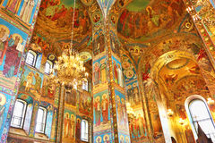 Interior of the Church  Savior on Spilled Blood Stock Images