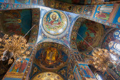 Interior of the Church of the Savior on Spilled Blood in Petersb Stock Image