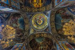 Interior of the Church of the Savior on Spilled Blood. Russia, St. Petersburg, 23,09,2017 Interior of the Church of the Savior on Spilled Blood Stock Photo