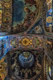 Interior of the Church of the Savior on Spilled Blood. Russia, St. Petersburg, 23,09,2017 Interior of the Church of the Savior on Spilled Blood Royalty Free Stock Images