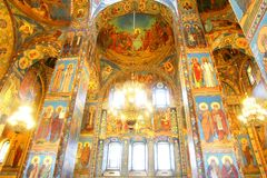 Interior of the Church of the Savior on Spilled Blood in Saint P Stock Image