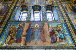 Interior of the Church of the Savior of Spilled Blood in St. Pet Stock Photo