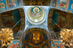 Interior of Church of the Savior on Spilled Blood, St Petersburg Stock Photos