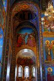 Interior of the church of the Savior on Spilled Blood, St Petersburg. Russia Stock Photography