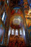 Interior of the church of the Savior on Spilled Blood, St Petersburg. Russia Stock Image