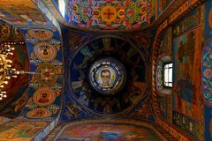 Interior of the church of the Savior on Spilled Blood, St Petersburg. Russia Royalty Free Stock Photography