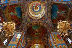 Interior of the church of the Savior on Spilled Blood, St Petersburg. Russia Stock Photo