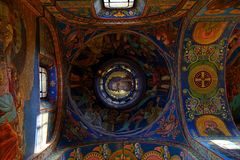 Interior of the church of the Savior on Spilled Blood, St Petersburg. Russia Royalty Free Stock Photo
