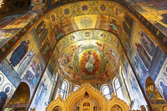 Interior of the Church of the Savior on Spilled Blood Royalty Free Stock Image