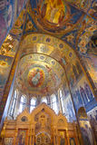 Interior of the Church of the Savior on Spilled Blood in St. Petersburg, Royalty Free Stock Images