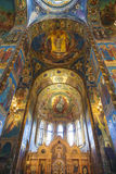 Interior of the Church of the Savior on Spilled Blood in St. Petersburg Stock Image