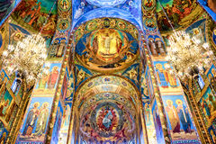 Interior of the church of the Savior on Spilled Blood, St Petersburg Russia Stock Images