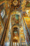 Interior of the Church of the Savior on Spilled Blood in St. Petersburg Stock Photo