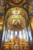 Interior of the Church of the Savior on Spilled Blood in St. Petersburg Royalty Free Stock Photography