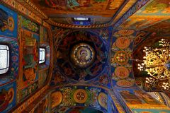 Interior of the church of the Savior on Spilled Blood, St Petersburg. Russia Royalty Free Stock Images