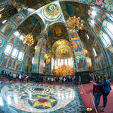Interior of Church of the Savior on Spilled Blood, St Petersburg Stock Photography