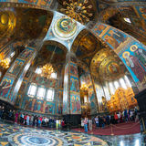Interior of Church of the Savior on Spilled Blood, St Petersburg Stock Photo