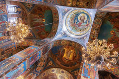 Interior of the Church of the Saviour on Spilled Blood in Saint Stock Photography