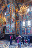 Interior of the Church of the Saviour on Spilled Blood in Saint Royalty Free Stock Images