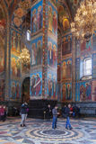 Interior of the Church of the Saviour on Spilled Blood in St. Pe Royalty Free Stock Photography