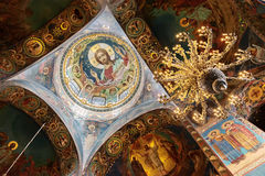 Interior of the Church of the Saviour on Spilled Blood in St. Pe Stock Images
