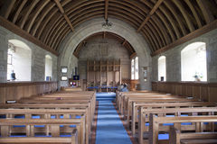 Interior church in Scotland. Typical village church in Scotland, UK, in the middle of the cemetery Stock Images