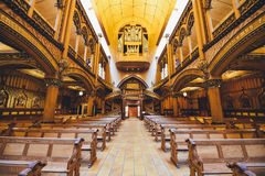 Interior of Church With Seats Arranged Accordingly Royalty Free Stock Photos