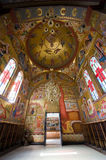 Interior of the 'Church of the seven apostles' Royalty Free Stock Photos