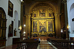 Interior of a church in Seville 38 Royalty Free Stock Image