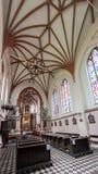 VILNIUS, LITHUANIA - JUNE 28, 2012: Interior of Church of St. Francis and St. Bernard, Vilnius, Lithuania. stock images
