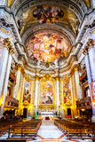 The interior of the Church of St. Ignatius of Loyola is full of works of art Royalty Free Stock Image